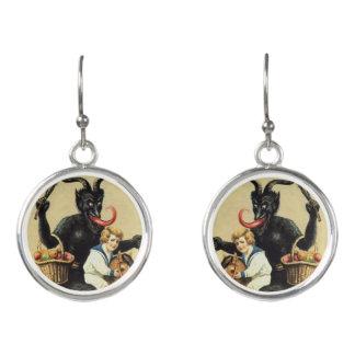 Boucles D'oreilles Noël de Noël de démon de cheval de basculage de