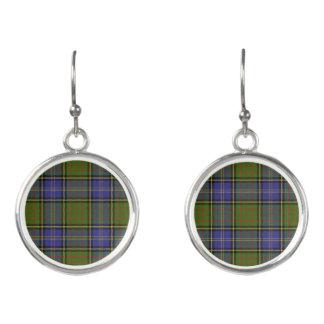 Boucles D'oreilles Plaid de tartan écossais de chasse de MacMillan de