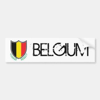 Bouclier de drapeau de la Belgique avec l'adhésif  Autocollant De Voiture