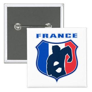 bouclier de drapeau de la France de Français de jo Badge Carré 5 Cm
