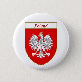 Bouclier de la Pologne Eagle Badge Rond 5 Cm