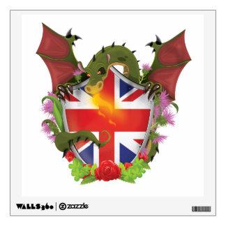 Bouclier et dragon britanniques d'Union Jack