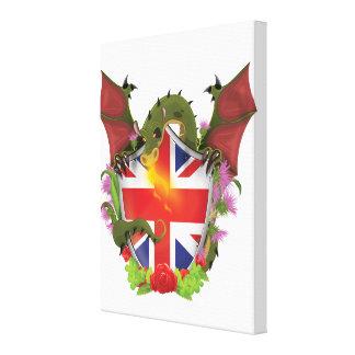 Bouclier et dragon britanniques d'Union Jack Toiles