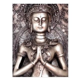 Bouddha argenté carte postale