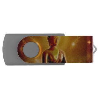 Bouddha avec la lumière rougeoyante clé USB 2.0 swivel