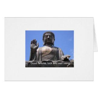 Bouddha - bonne chance, chance et bien-être carte de vœux