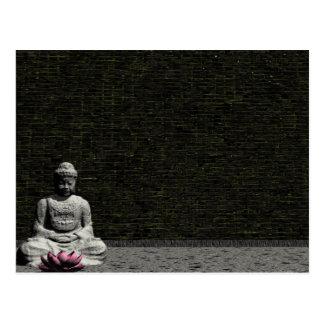 Bouddha dans la chambre grise - 3D rendent Cartes Postales