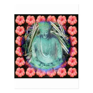 Bouddha dans le jardin carte postale