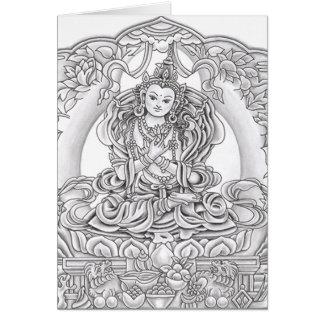 Bouddha de carte de voeux de compassion