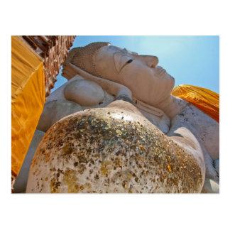 Bouddha étendu carte postale
