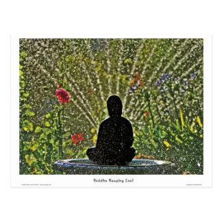 Bouddha gardant les cartes postales fraîches