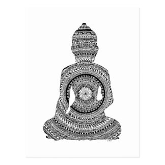 Bouddha GraphiZen Carte Postale