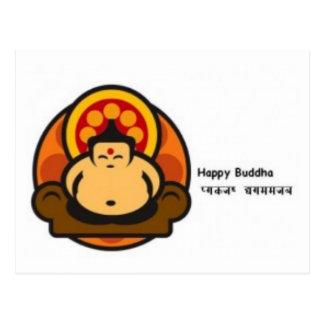 Bouddha heureux carte postale