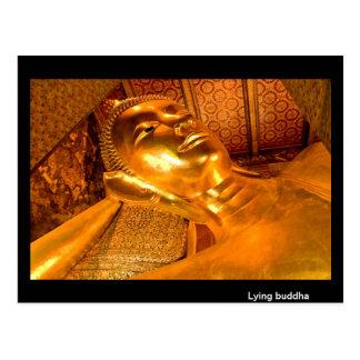 Bouddha menteur Thaïlande Carte Postale