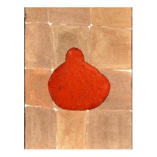 Bouddha orange - customisé carte postale