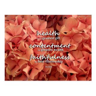 Bouddha - santé, satisfaction et fidélité carte postale