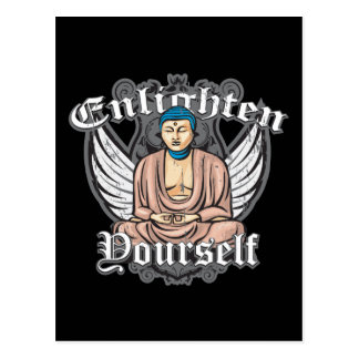 Bouddha s'éclairent carte postale