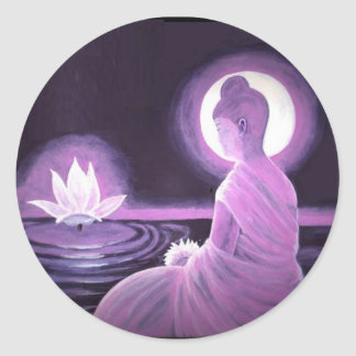 Bouddha Sticker Rond