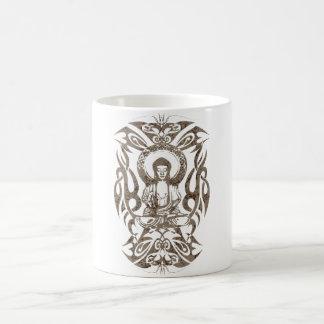 Bouddha tribal mug blanc