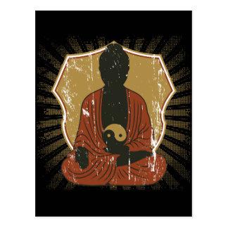 Bouddha Yin méditant Yang Carte Postale