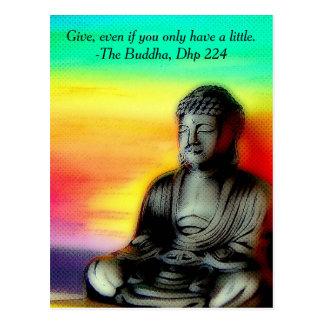 Bouddhisme, carte postale de Bouddha
