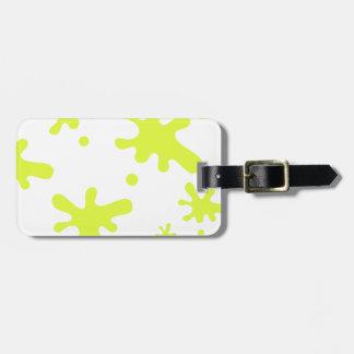Boue verte étiquette à bagage