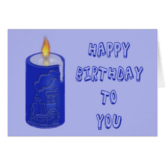 Bougie d'anniversaire carte de vœux