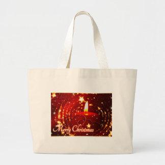 Bougie de rouge de Joyeux Noël Grand Tote Bag