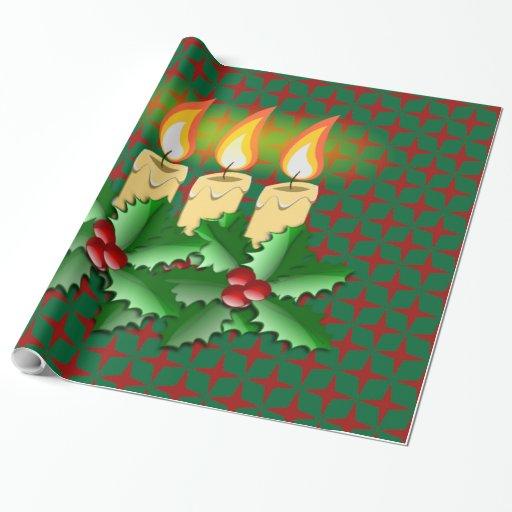 Bougies de no l papiers cadeaux zazzle - Cadeaux de noel a vendre ...