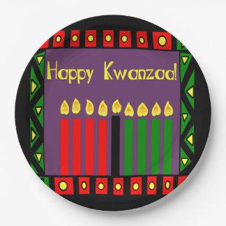 Bougies de plaques à papier de partie de Kwanzaa Assiettes En Papier