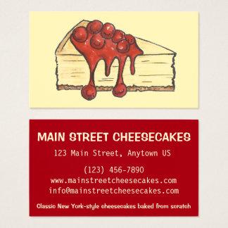 Boulangerie de gâteau au fromage de NYC New York Cartes De Visite