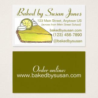 Boulangerie de tarte de chaux principale de la cartes de visite