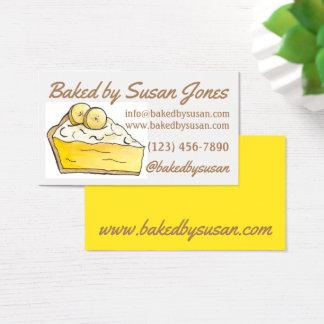 Boulangerie jaune de tarte crème de banane cuite cartes de visite