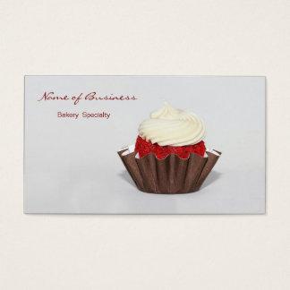 Boulangerie rouge de petit gâteau de velours cartes de visite