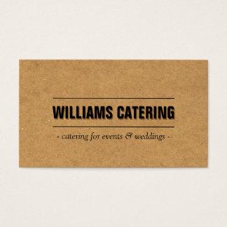 Boulangerie rustique/restauration/chef du carton cartes de visite