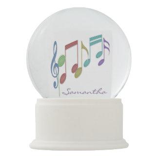 Boule À Neige Coutume multicolore linéaire de notes musicales