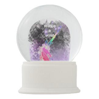 Boule À Neige Globe mystique de neige de licorne de souhait