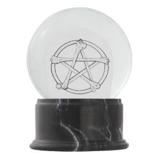 Boule À Neige Pentagramme d'os