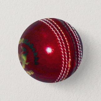 Boule de cricket badge rond 2,50 cm