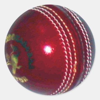 Boule de cricket sticker rond
