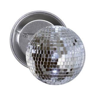 Boule de disco badge rond 5 cm