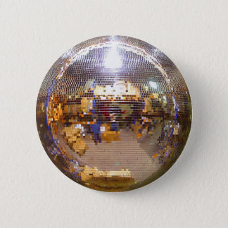 Boule de disco de Mirrorball Badge Rond 5 Cm