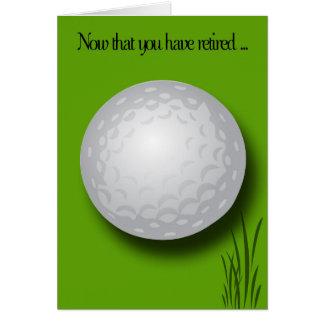 Boule de Félicitation-Golf de retraite Carte De Vœux