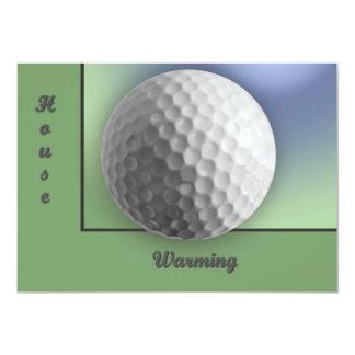 Boule de golf carton d'invitation  12,7 cm x 17,78 cm