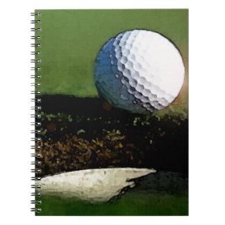 Boule de golf et le trou carnet