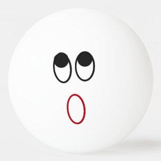 Boule de ping-pong choquée de visage balle de ping pong