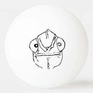Boule de ping-pong maladroite de caméléon balle de ping pong
