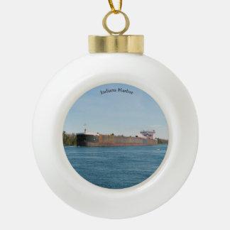 Boule de port de l'Indiana ou ornement de flocon