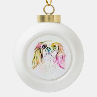 Boule En Céramique Art cavalier de chien d'épagneul du Roi Charles