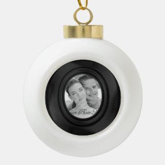 Boule En Céramique Cadre élégant de photo (noir)